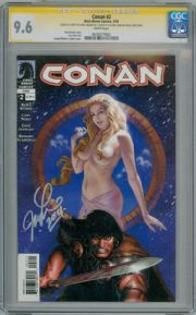Conan #2 CGC 9.6 Signature Series Signed Joseph M. Linsner Dark Horse comic book